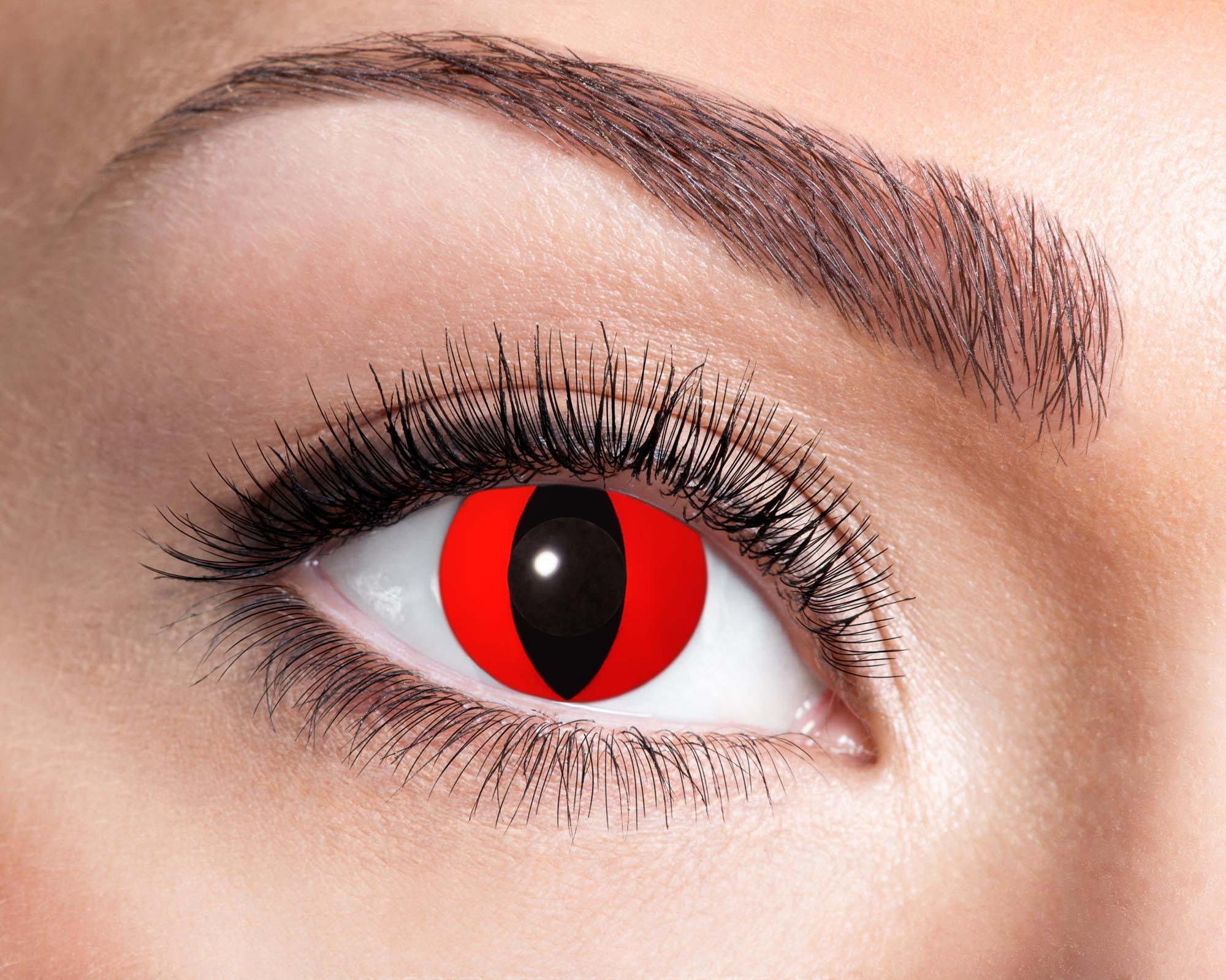 Billede af Røde katteøjne kontaktlinser