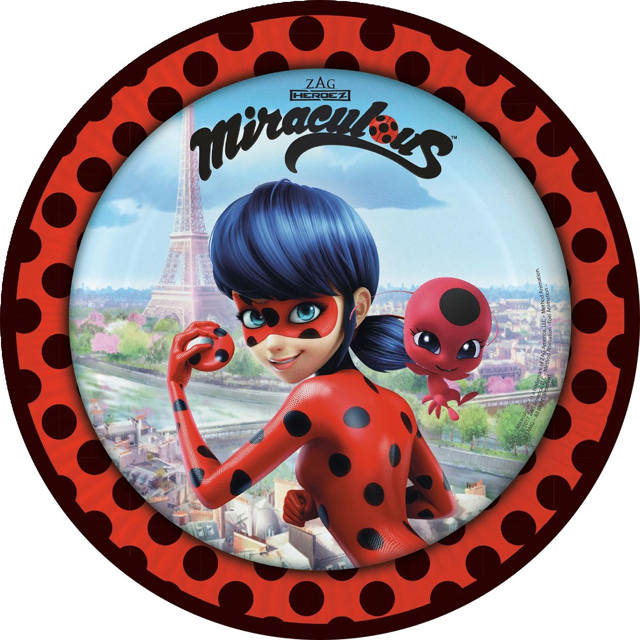 Miraculous Ladybug paptallerkner
