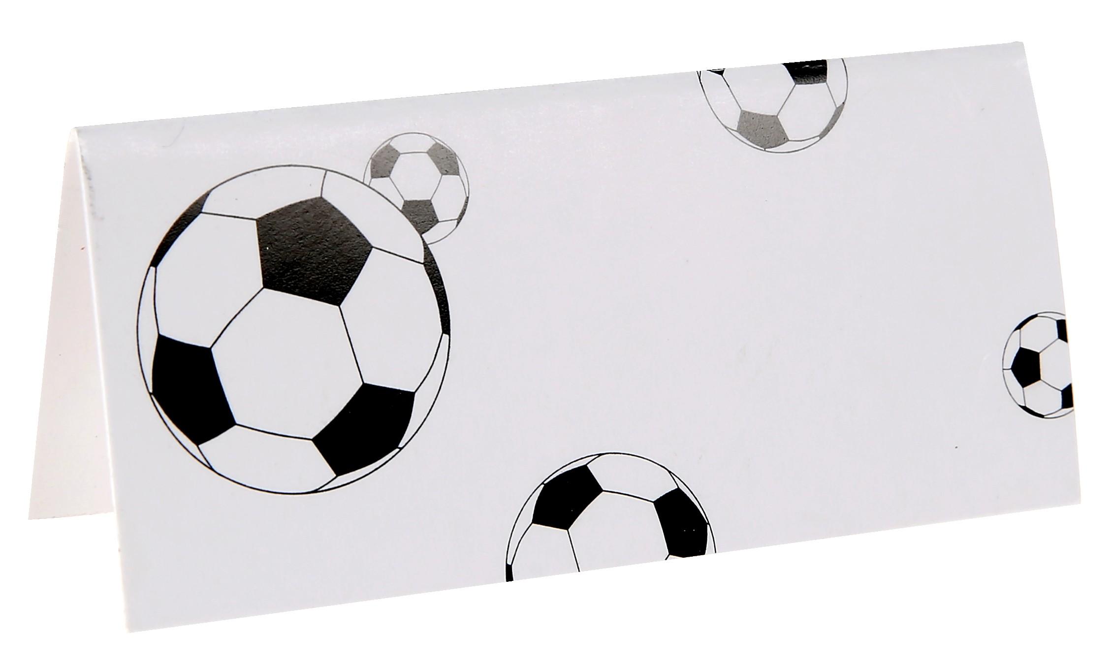 Bordkort med fodbold - 10 Stk