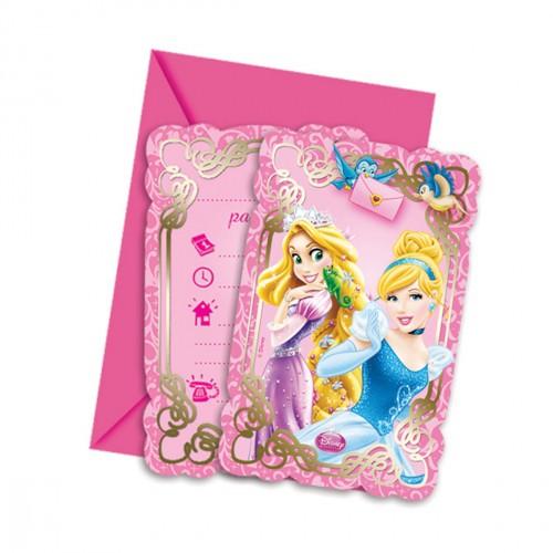 Billede af Disney Prinsesser invitationer