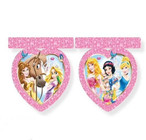 Billede af Disney Prinsesser hjerteformet flag banner
