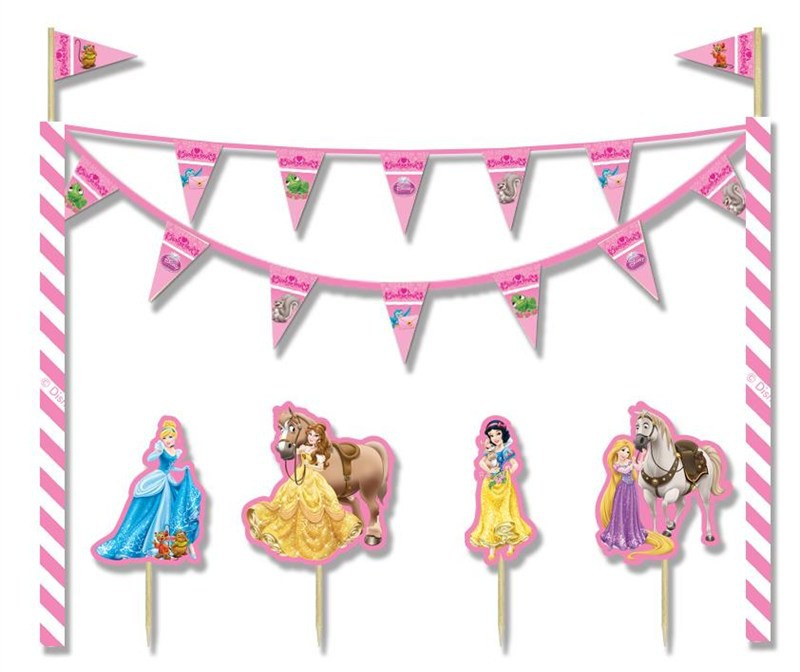 Billede af Disney Prinsesser kagedekoration