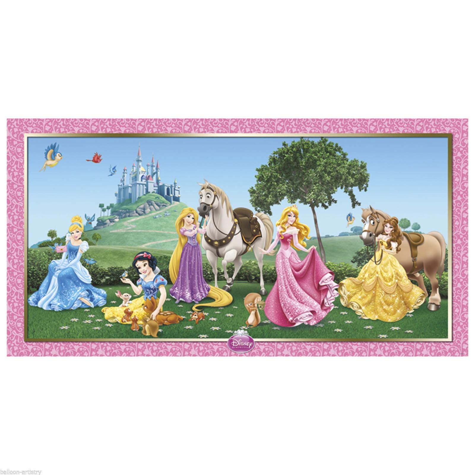 Billede af Disney Prinsesser væg banner