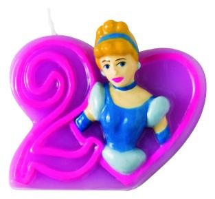 Billede af Disney Prinsesser fødselsdagslys: Fødselsdag - 2 års fødselsdag
