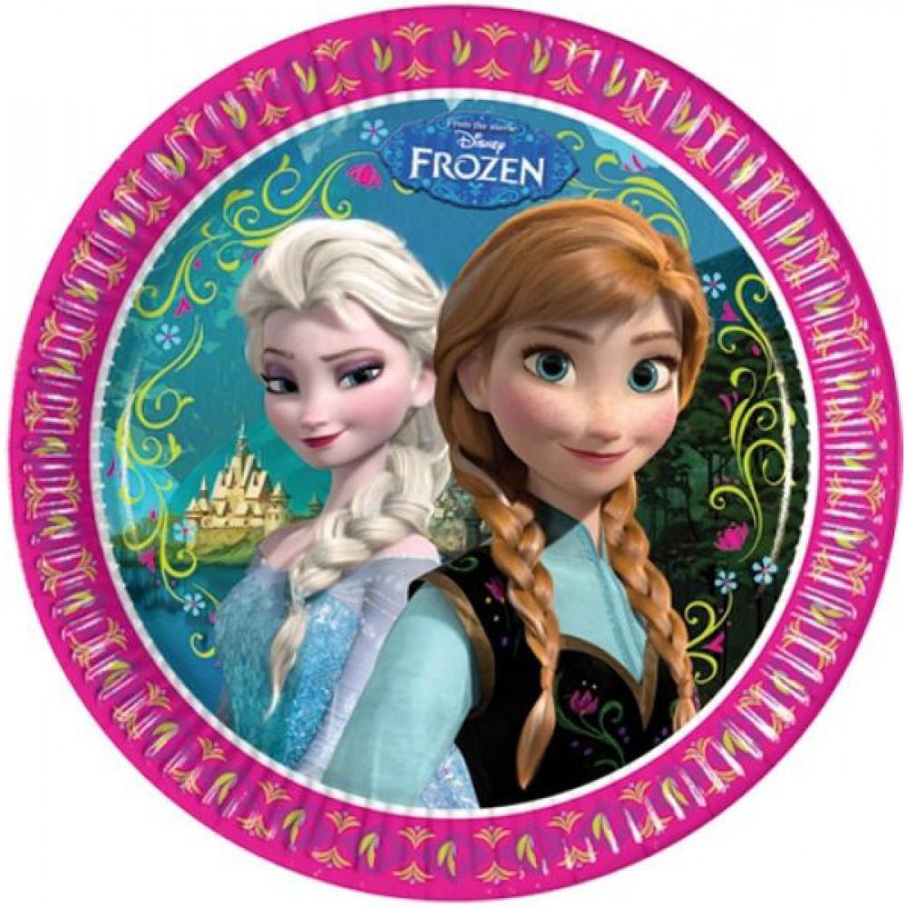 Billede af 8 Stk. Frost pap tallerkner, Anna og Elsa
