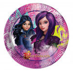 8 Stk. Disney Descendants pap tallerkner