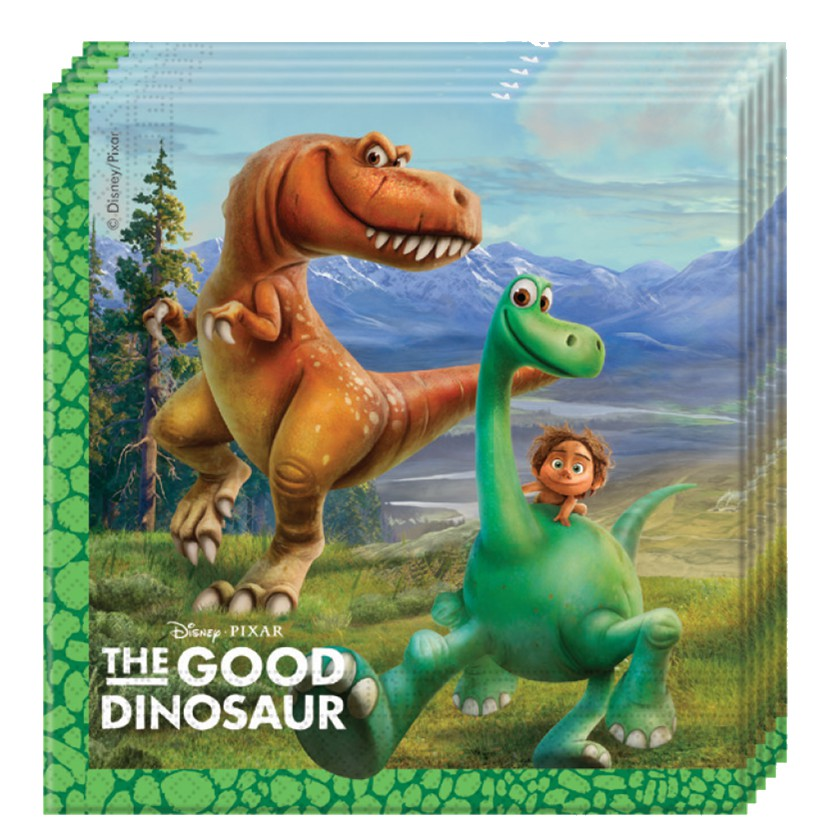 Image of   20 Stk. Den gode Dinosaur servietter