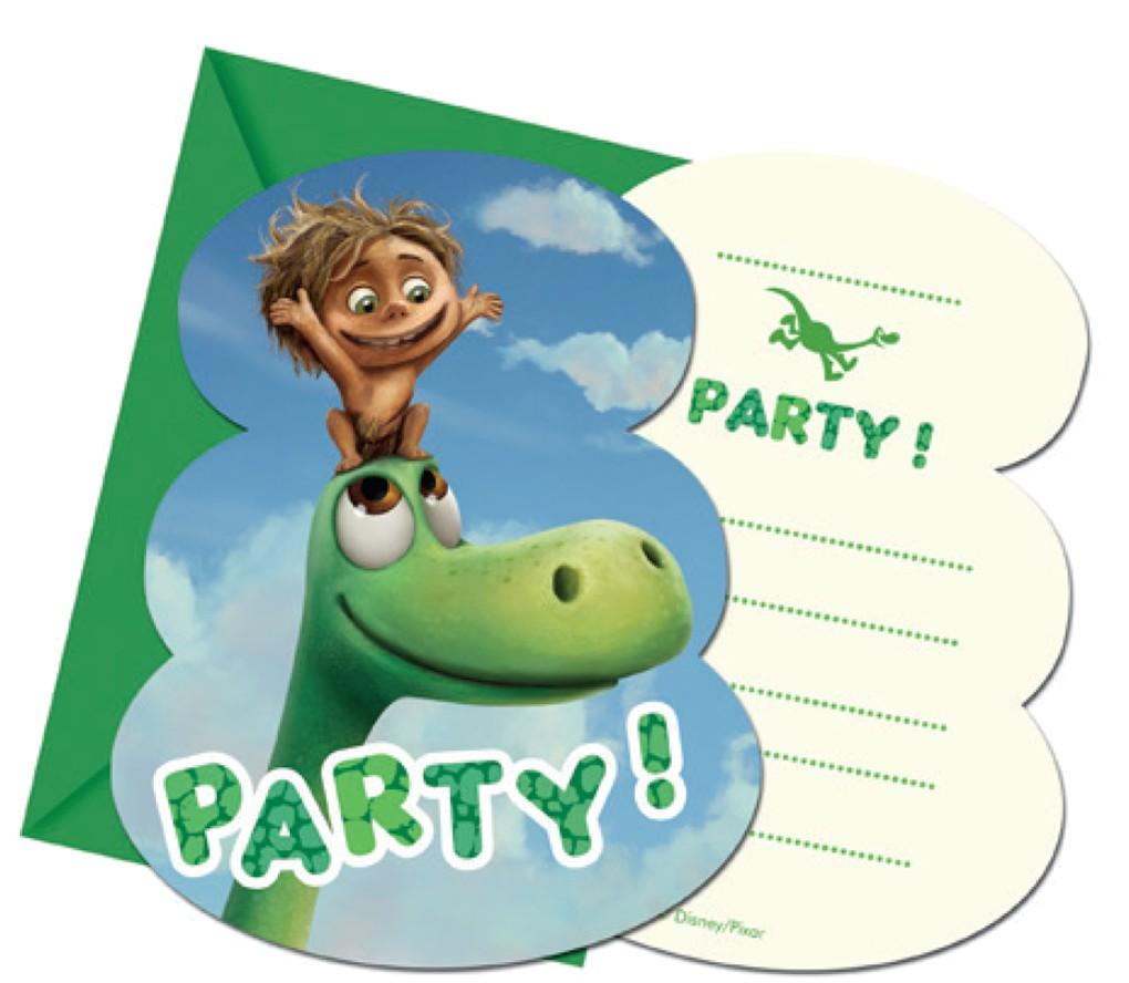 Billede af 6 Stk. Den gode Dinosaur invitationer