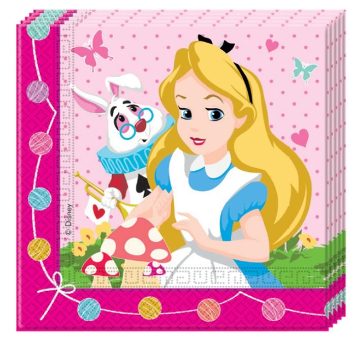 Billede af Alice i eventyrland servietter