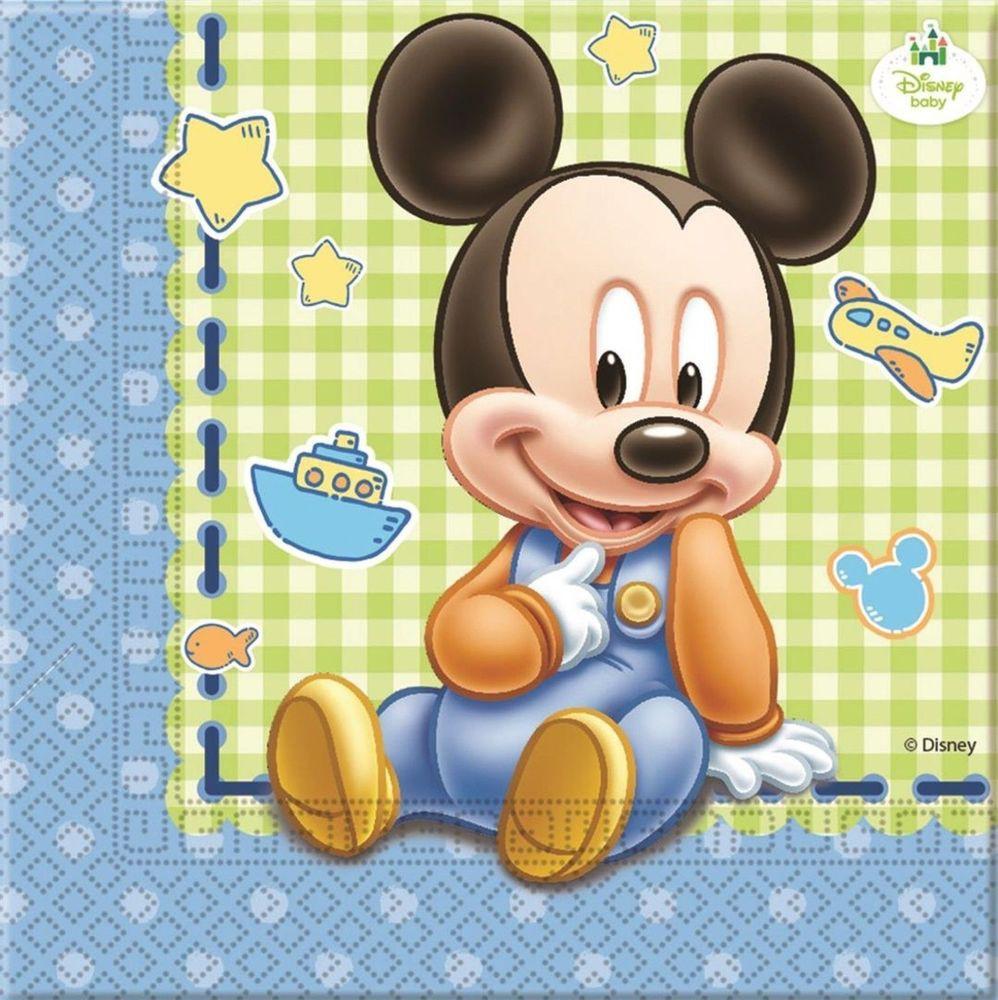 Billede af 20 stk. Baby Mickey servietter