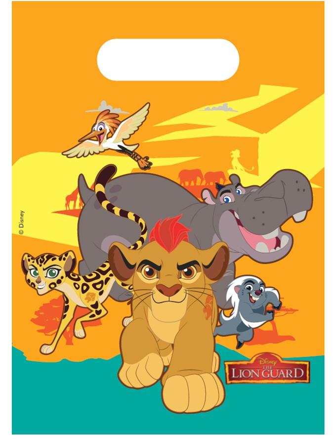 Billede af 6 Stk. The Lion Guard slikposer