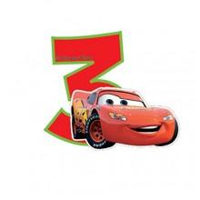 Biler fødselsdagslys: Fødselsdag - 3 års fødselsdag