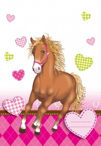 6 stk. Heste med hjerter slikposer