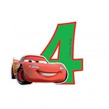 Biler fødselsdagslys: Fødselsdag - 4 års fødselsdag