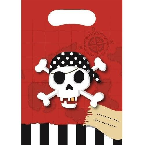 Billede af Pirat skattejagt slikposer - 6 Stk.
