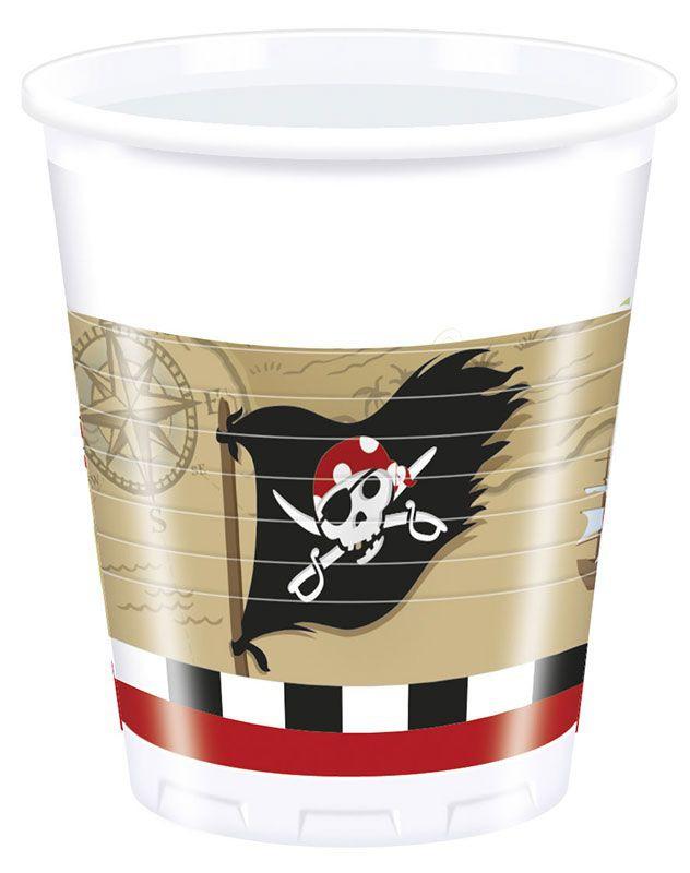 Billede af 8 stk. Pirat skattejagt krus