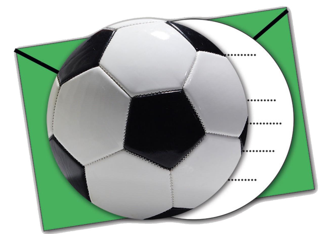 Billede af 6 stk. Fodbold invitationer