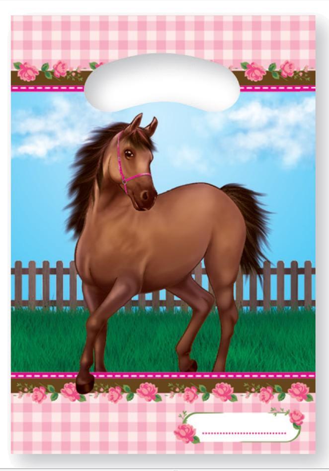 Billede af Heste med roser slikposer