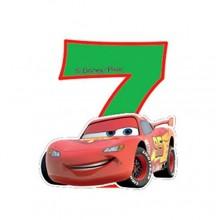 Biler fødselsdagslys: Fødselsdag - 7 års fødselsdag