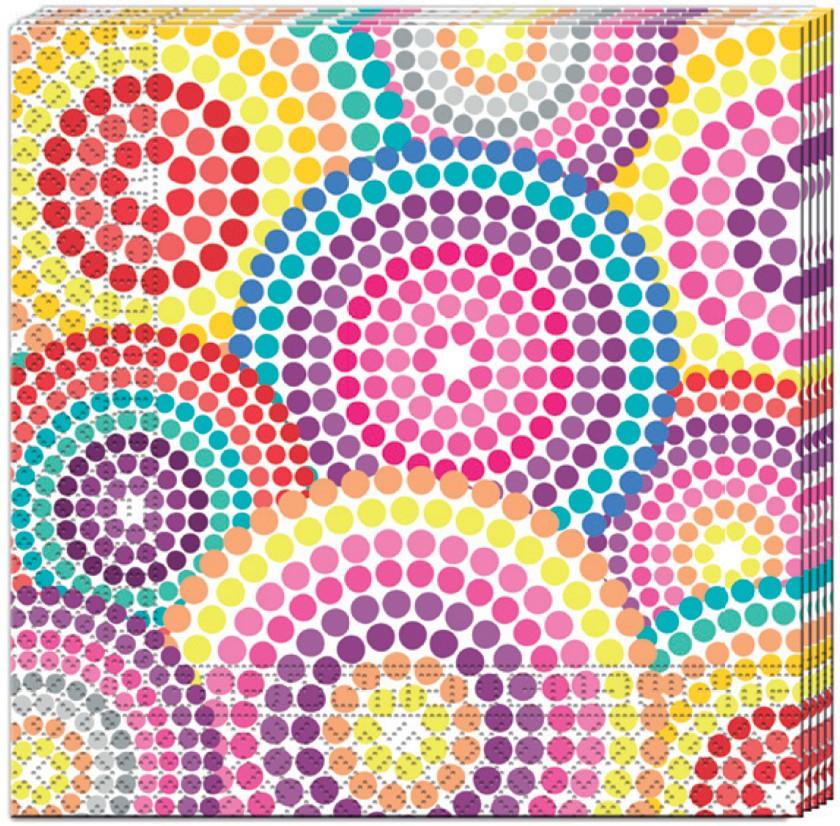 Billede af Prikket servietter med forskellige lyse farver