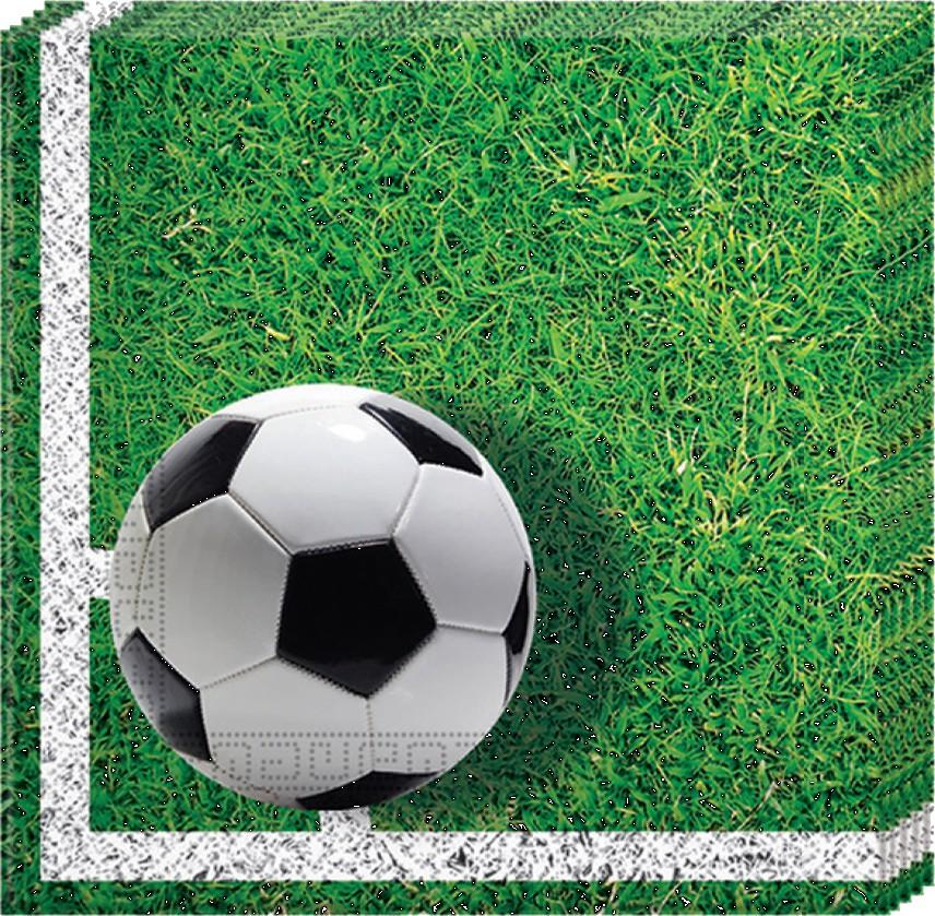 Billede af 20 stk. Fodbold servietter