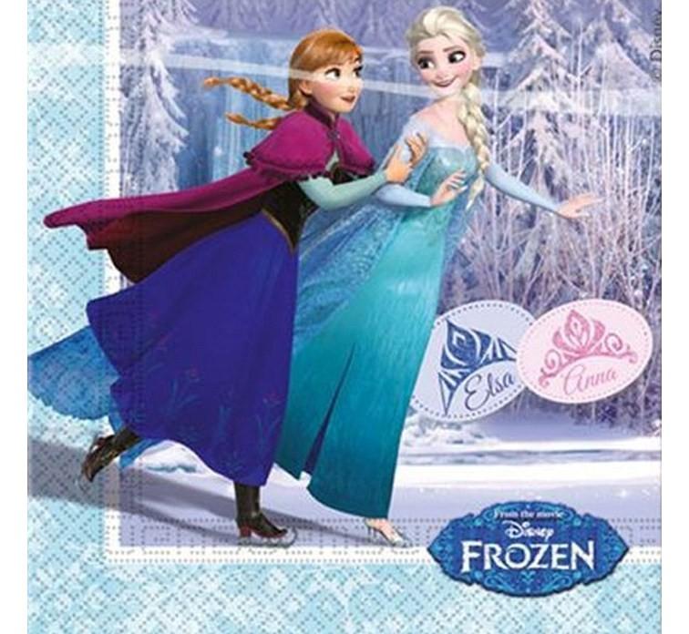 Billede af 20 Stk. Frost servietter, Is dronning skøjteløb