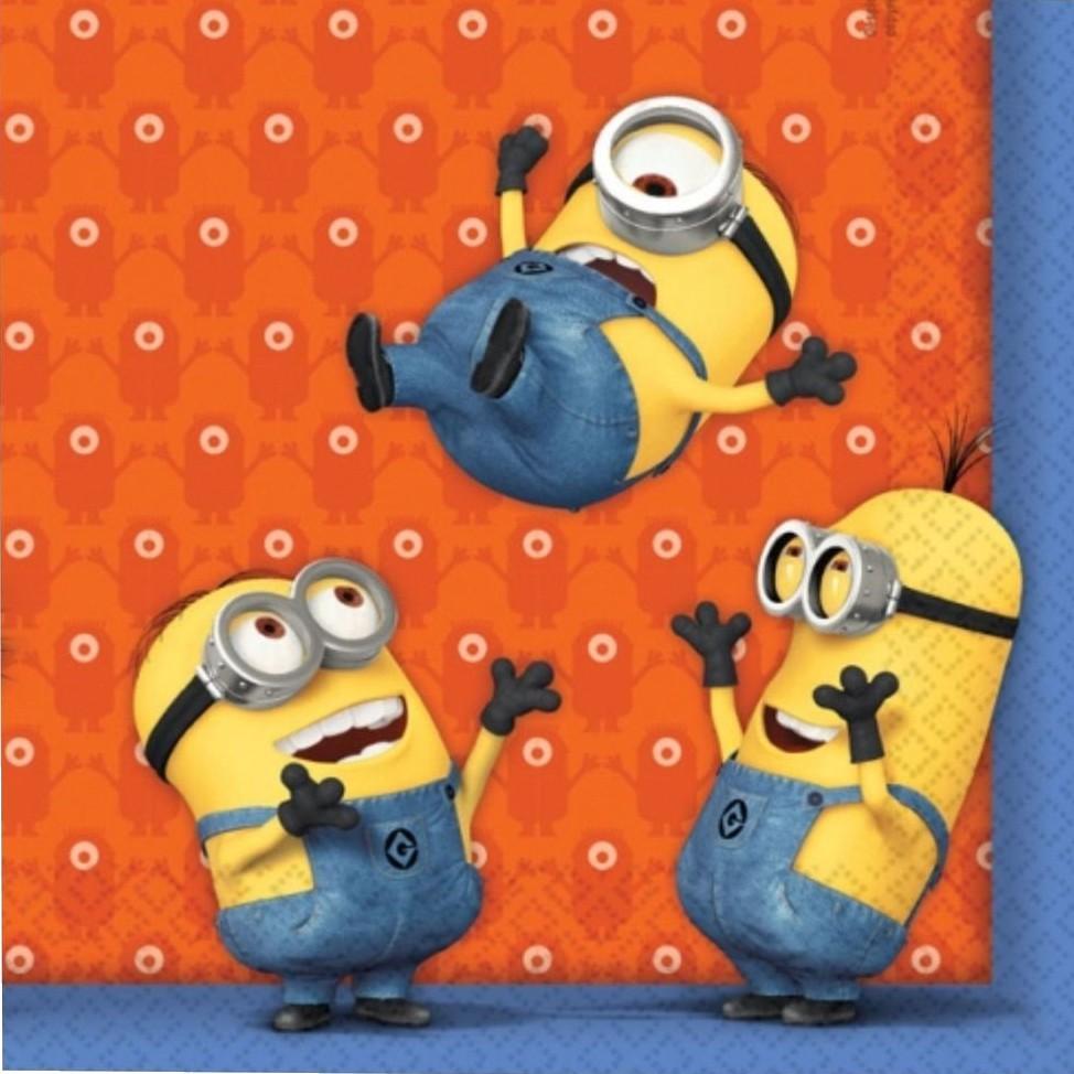Billede af 20 Stk. Minions servietter