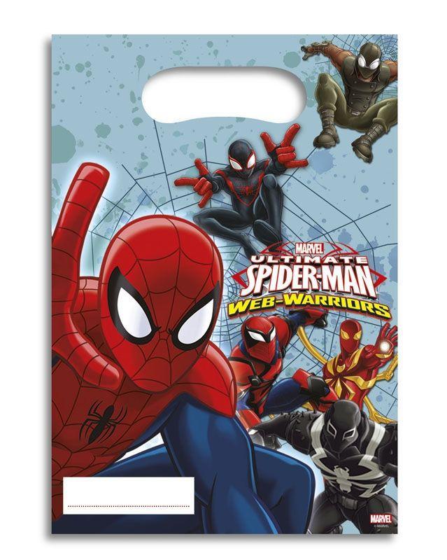 Billede af 6 Stk. Spider-man slikposer