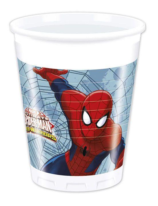 Billede af 8 Stk. Spider-man krus