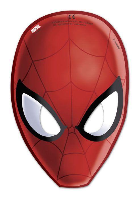 Billede af 6 Stk. Spider-man masker