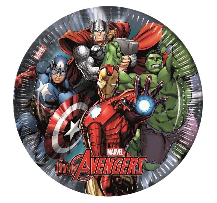 Billede af 8 Stk. Avengers Assemble pap tallerkner