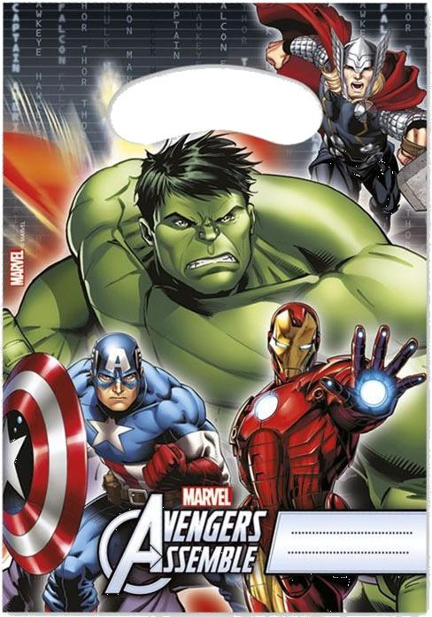 Billede af 6 stk. Avengers Assemble slikposer