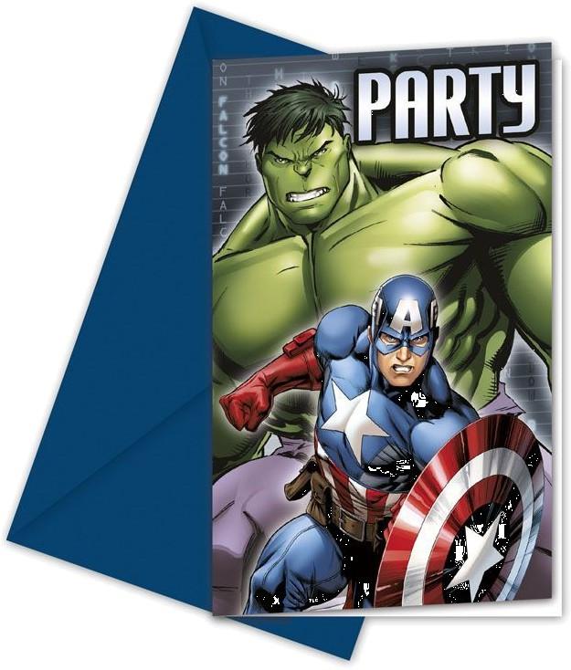 Billede af 6 Stk. Avengers Assemble invitationer