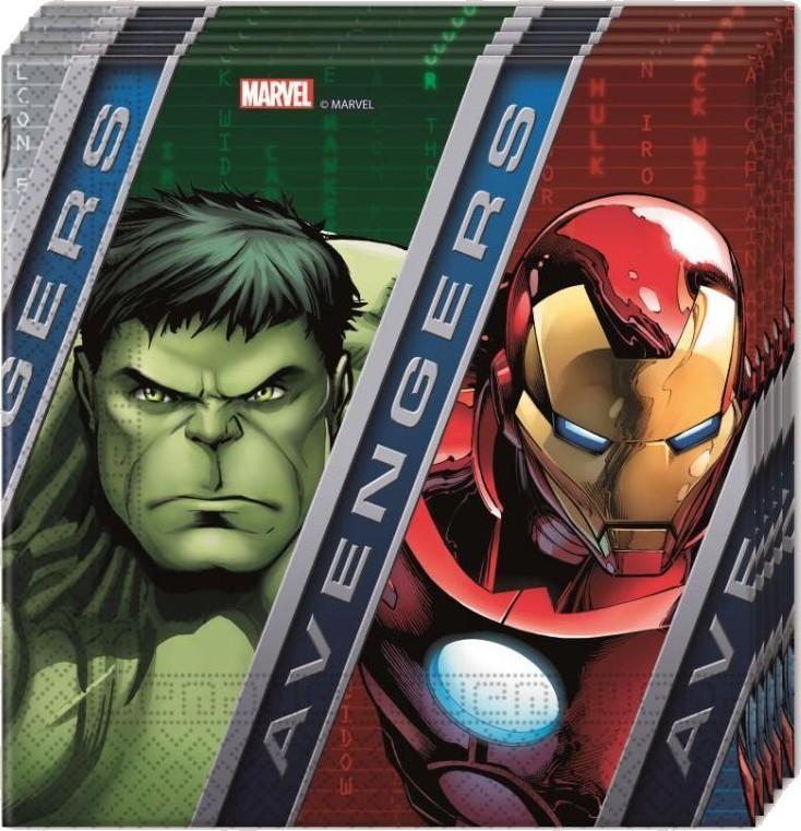 Billede af 20 Stk. Avengers Assemble servietter