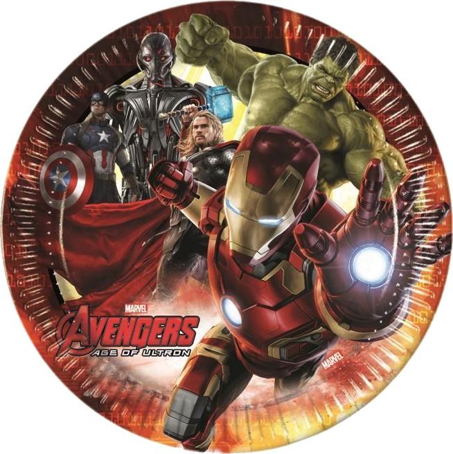 Billede af 8 Stk. Avengers Age of Ultron pap tallerkner