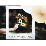 Selfie props - fotoramme - tekst best wedding - 8 probs