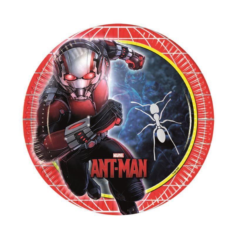Billede af 8 stk. Ant-man tallerkner