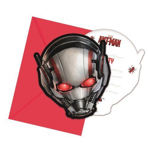 Billede af 6 stk. Ant-man invitationer