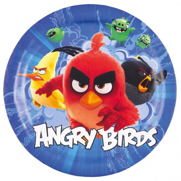Image of   8 Stk. Angry birds tallerkner