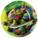 8 Stk. Teenage Mutant Ninja Turtles tallerkner
