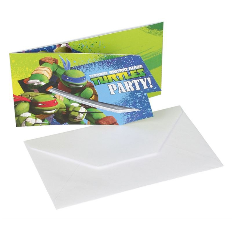 Teenage Mutant Ninja Turtles invitationer