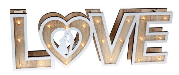Love skilt med lys