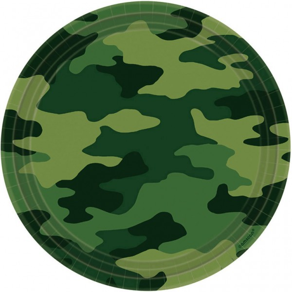 Billede af 8 Stk. Camouflage tallerkner