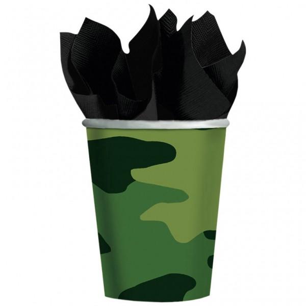Billede af 8 Stk. Camouflage pap krus