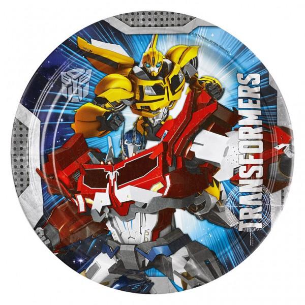 Billede af 8 Stk. Transformers pap tallerkner
