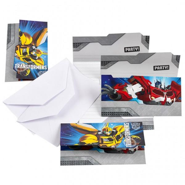 Billede af 6 stk. Transformers invitationer
