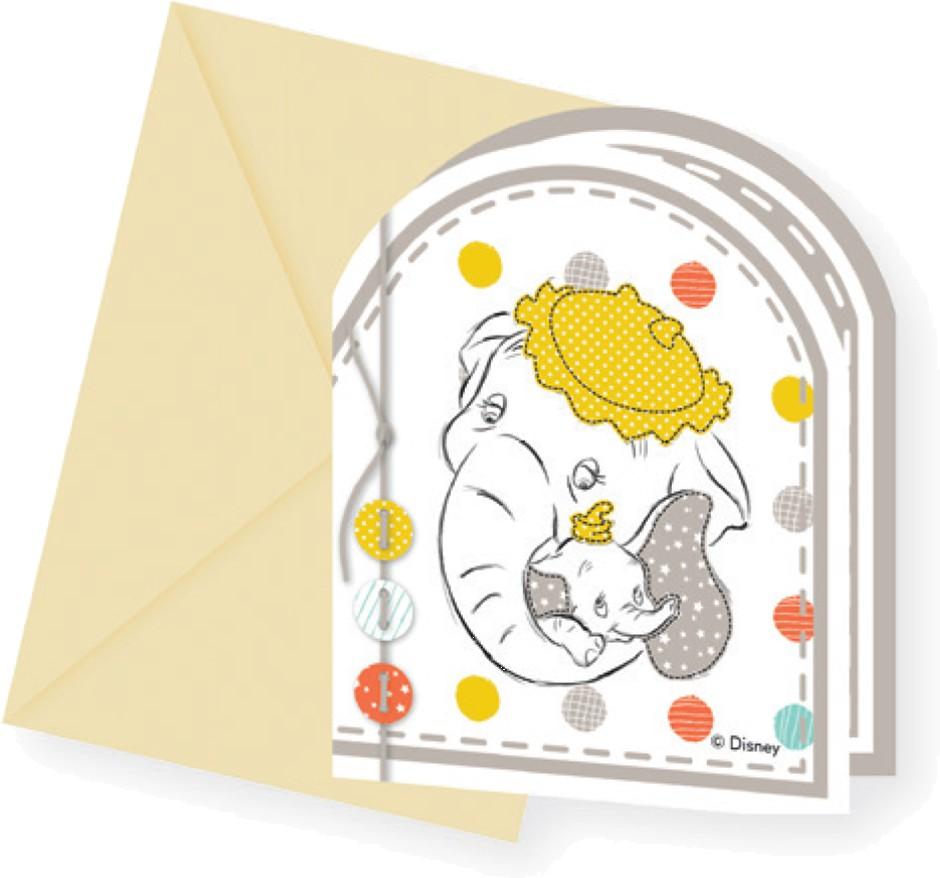 Billede af 6 Stk. Baby Shower invitationer