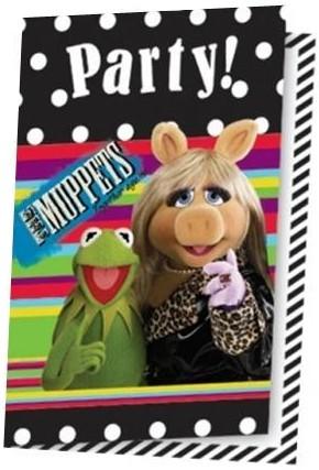 Billede af Muppet Show invitationer