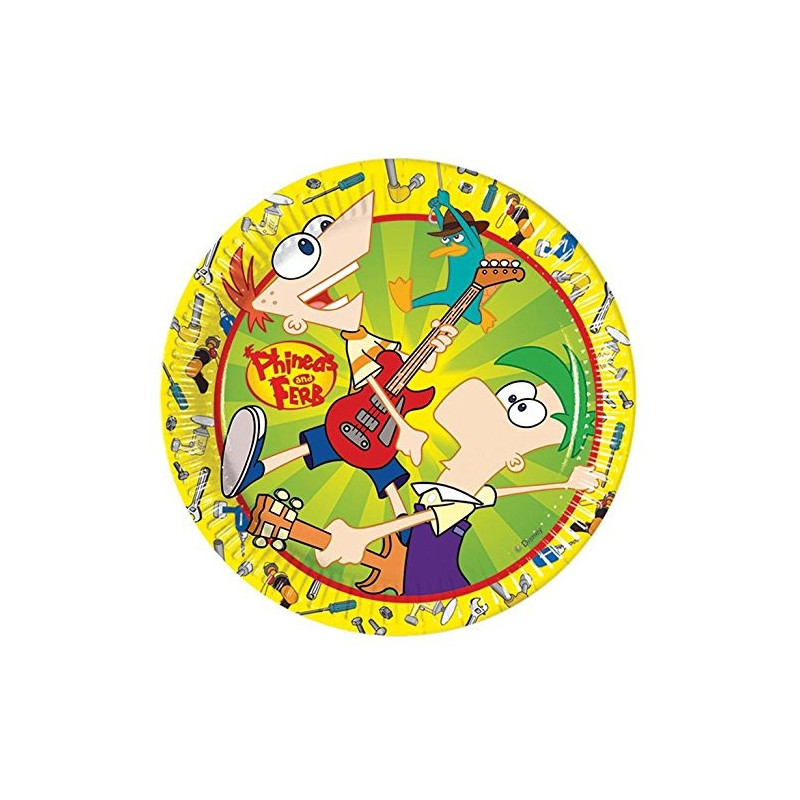Phineas And Ferb tallerkner