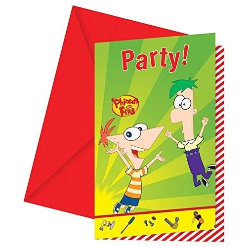 Billede af Phineas And Ferb invitationer